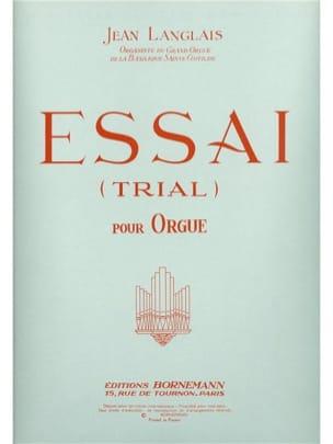 Essai Trial - Jean Langlais - Partition - Orgue - laflutedepan.com