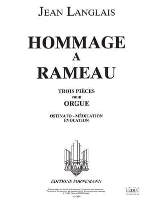 Jean Langlais - Hommage A Rameau - Partition - di-arezzo.fr