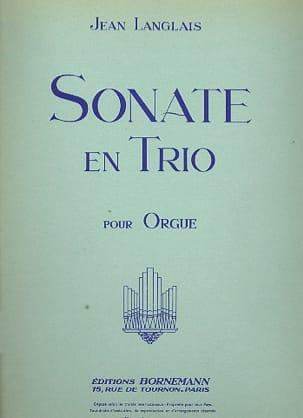 Sonate En Trio Jean Langlais Partition Orgue - laflutedepan