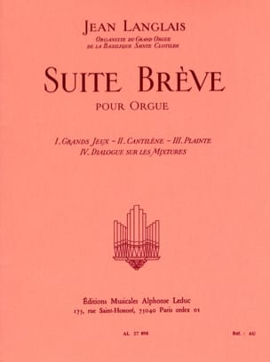 Jean Langlais - Brief Suite - Sheet Music - di-arezzo.com