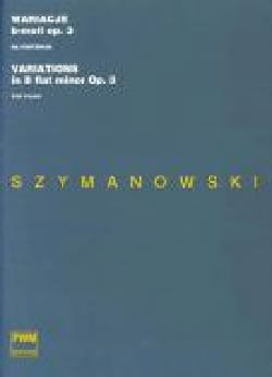 Karol Szymanowski - 12 Variations Si Bémol Mineur Opus 3 - Partition - di-arezzo.fr