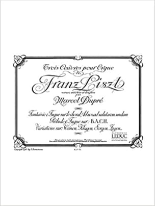 LISZT / DUPRE - 3 Works For Organ - Sheet Music - di-arezzo.co.uk