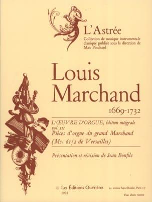 Marchand Louis / Bonfils Jean - Oeuvre D'orgue Volume 3 - Partition - di-arezzo.fr