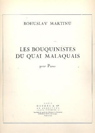 Martinu - Les Bouquinistes Du Quai Malaquais - Partition - di-arezzo.fr