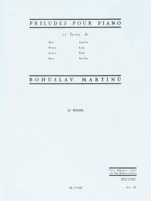 Préludes en Forme de... MARTINU Partition Piano - laflutedepan