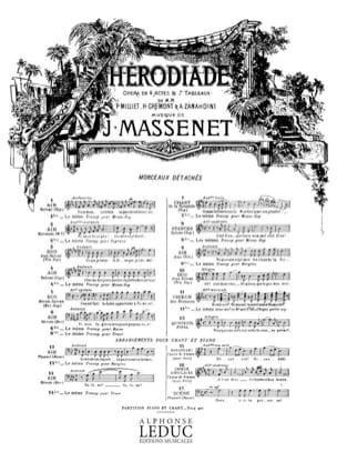 Jules Massenet - Do not refuse me. Herodias. Soprano 2bis - Sheet Music - di-arezzo.co.uk