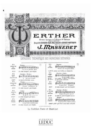 Jules Massenet - From the Sun Gai. Werther - Sheet Music - di-arezzo.com
