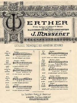 Jules Massenet - Air of Tears. Werther - Sheet Music - di-arezzo.com