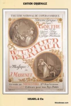 Jules Massenet - Werther - Partition - di-arezzo.fr