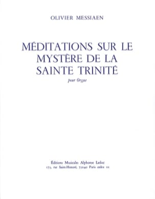 Olivier Messiaen - Meditations on the Mystery of the Holy Trinity - Sheet Music - di-arezzo.co.uk