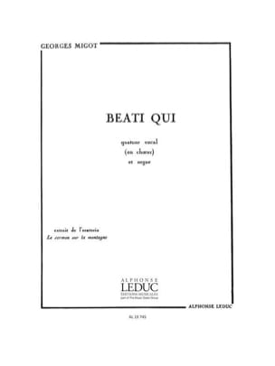 Georges Migot - Beati Qui - Partition - di-arezzo.fr