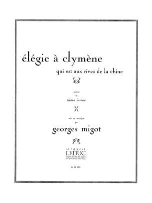 Elegie A Clymene Georges Migot Partition Mélodies - laflutedepan