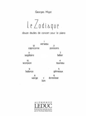 Zodiaque Georges Migot Partition Piano - laflutedepan