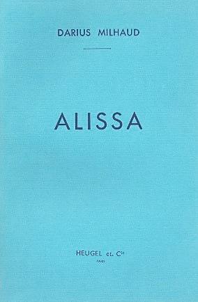 Darius Milhaud - Alissa - Partition - di-arezzo.fr