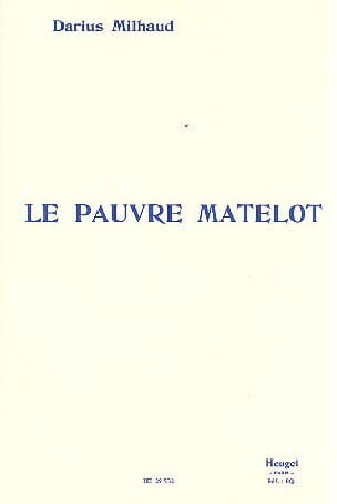 Darius Milhaud - The Poor Sailor - Sheet Music - di-arezzo.co.uk