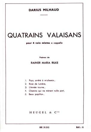 Darius Milhaud - Quatrains Valaisans - Partition - di-arezzo.fr
