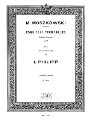Moritz Moszkowski - Technical Sketches Opus 97 Volume 2 - Sheet Music - di-arezzo.co.uk