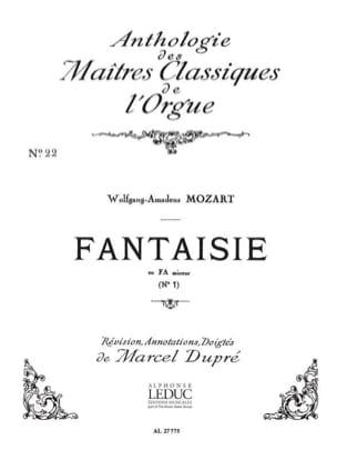MOZART - Fantaisie En Fa Mineur N°1 - Partition - di-arezzo.fr