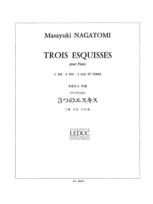 Masayuki Nagatomi - 3 Sketches - Sheet Music - di-arezzo.co.uk