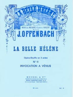 Jacques Offenbach - Invocation To Venus. the beautiful Helen - Sheet Music - di-arezzo.co.uk