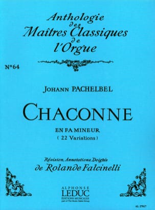 Pachelbel Johann / Falcinelli Rolande - Chaconne In F Minor - Sheet Music - di-arezzo.co.uk