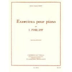 Exercices Préliminaires Isodore Philipp Partition Piano - laflutedepan