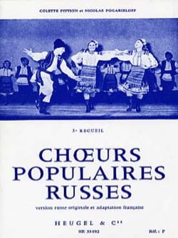 Pittion / Pogarieloff - Choeurs Populaires Russes Volume 3 - Partition - di-arezzo.fr