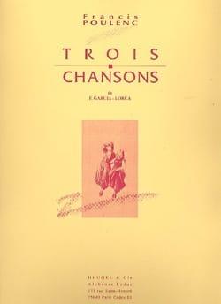 Francis Poulenc - 3 Chansons De Garcia Lorca - Partition - di-arezzo.fr