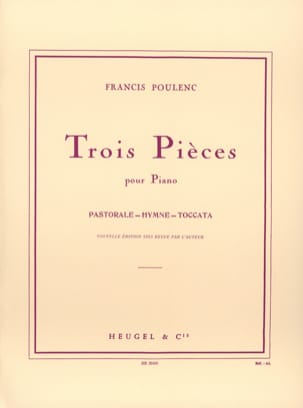 Francis Poulenc - 3 pieces - Sheet Music - di-arezzo.co.uk