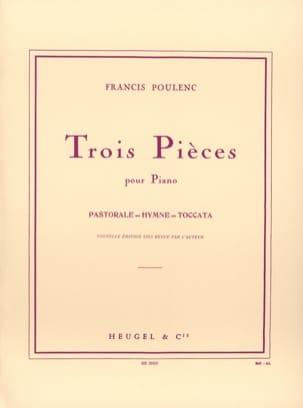 Francis Poulenc - 3 Pièces - Partition - di-arezzo.fr