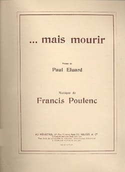 Francis Poulenc - ... but to die - Sheet Music - di-arezzo.com