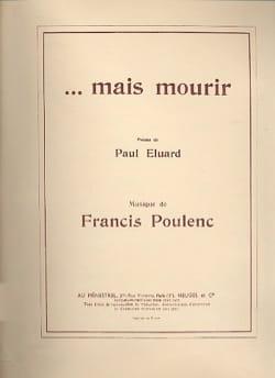 Francis Poulenc - ... mais Mourir - Partition - di-arezzo.fr