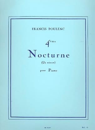 Francis Poulenc - Nocturne N ° 4 In C Minor - Sheet Music - di-arezzo.com