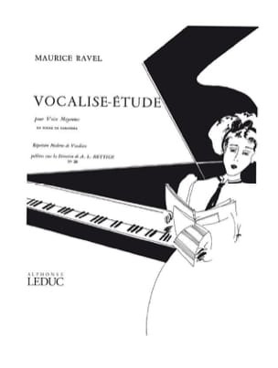 Ravel Maurice / Hettich - Vocalise Study. Mean Voice - Partition - di-arezzo.com