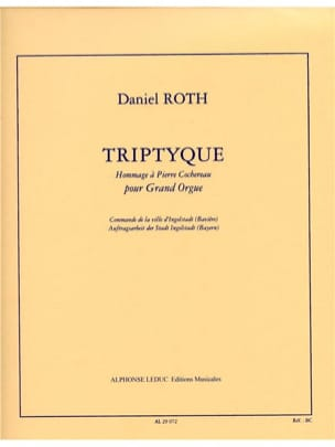 Triptyque Daniel Roth Partition Orgue - laflutedepan