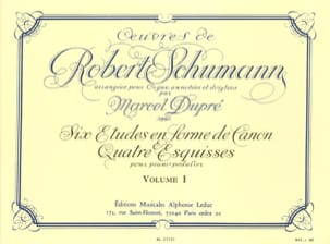 Schumann Robert / Dupré Marcel - Complete Works Volume 1 - Sheet Music - di-arezzo.co.uk