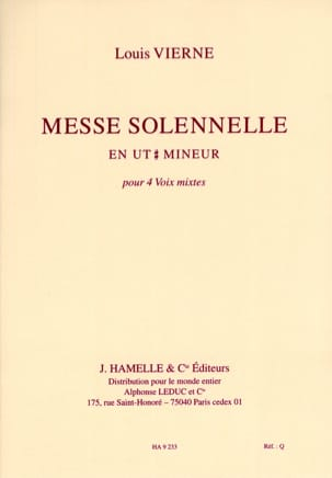 Louis Vierne - Solemn Mass in C sharp Minor Op 16. Choir alone - Sheet Music - di-arezzo.co.uk