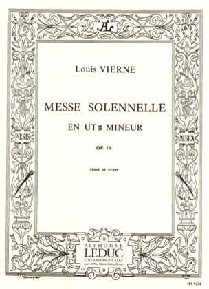 Louis Vierne - Solemn Mass in C sharp Minor Opus 16 - Sheet Music - di-arezzo.com
