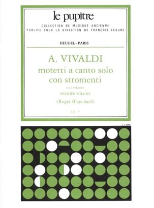 VIVALDI - Motetti A Canto Solo Con Stromenti Volume 1 - Partition - di-arezzo.fr
