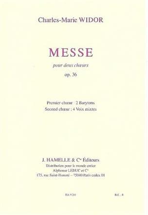 Messe Opus 36. Choeurs - Charles-Marie Widor - laflutedepan.com