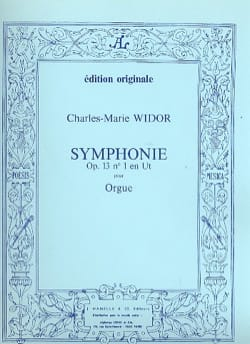 Charles-Marie Widor - Symphonie n° 1 Opus 13 - Partition - di-arezzo.fr