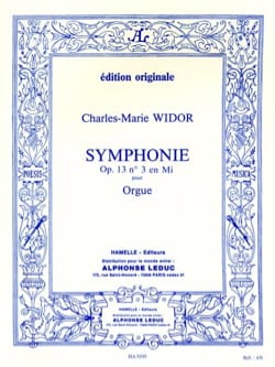 Symphonie n° 3 Opus 13 WIDOR Partition Orgue - laflutedepan