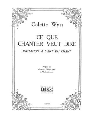 Colette Wyss - What to Sing Wants to Say - Sheet Music - di-arezzo.com