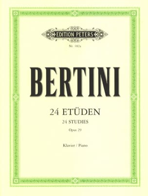 24 Etudes Opus 29 Henri Bertini Partition Piano - laflutedepan