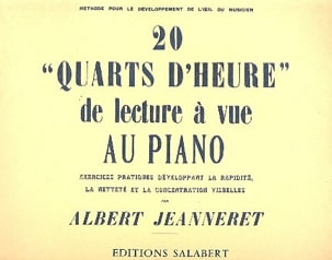 Albert Jeanneret - 20 Quarter Time Reading Piano View - Partitura - di-arezzo.es