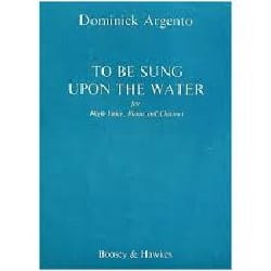To Be Sung Upon The Water Dominick Argento Partition laflutedepan