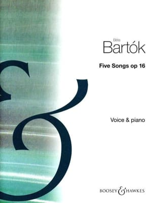 5 Songs Op. 16 BARTOK Partition Mélodies - laflutedepan