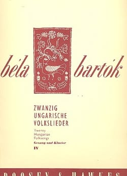 20 Ungarische Volkslieder Volume 4 BARTOK Partition laflutedepan