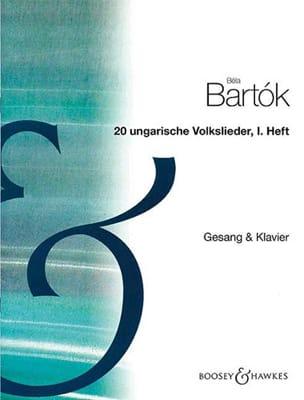 Bela Bartok - 20 Ungarische Volkslieder Volume 1 - Partition - di-arezzo.fr