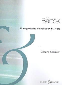 Bela Bartok - 20 Ungarische Volkslieder Volume 3 - Partition - di-arezzo.fr